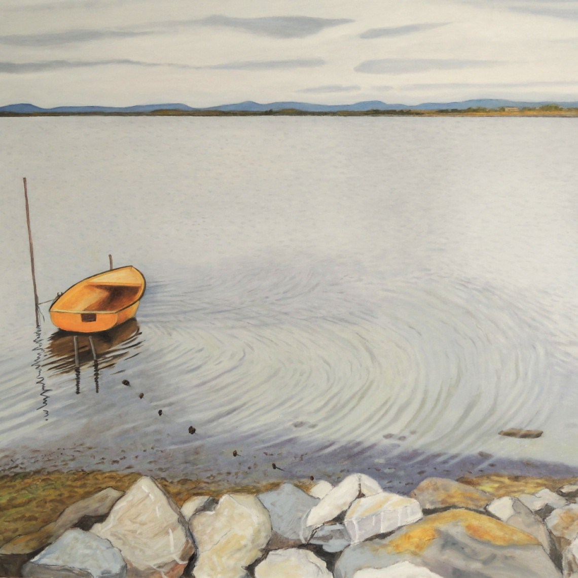 La barque - huile sur toile - 92x73 -2021